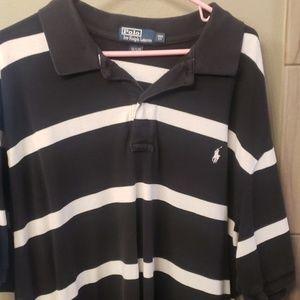 Men's Polo shirt 3XB black and white
